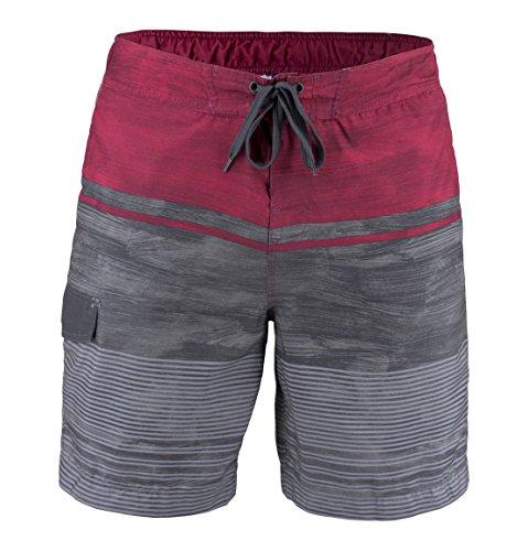 Matereek Men's Shorts Grey Heaven Sweamwear Swim Trunks Red Dark Grey - Mens Swimwear
