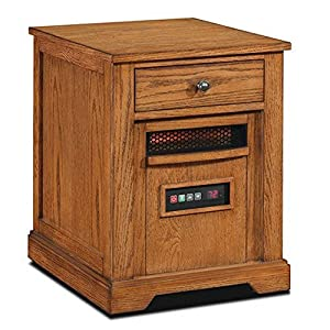 Duraflame 1500-Watt Electric Infrared Quartz Heater with Drawer - Oak