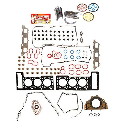 Domestic Gaskets Engine Rering Kit FSBRR8-30101LEVE\0\0\0 Fits 05-09 Dodge Magnum Charger Chrysler Sebring 2.7 Full Gasket Set, Standard Size Main Rod Bearings, Standard Size Piston -