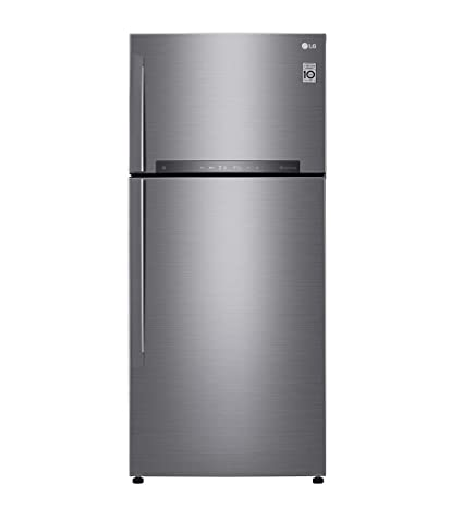 Image result for LG 516 L 3 Star Inverter Frost-Free Double-Door Refrigerator (GN-H602HLHU, Grey)