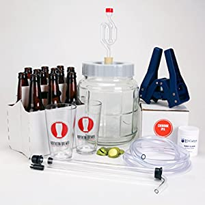 Northern Brewer - All Inclusive Go Pro 1 Gallon Small Batch HomeBrewing Starter Kit And Chinook IPA Beer Brewing Recipe Kit - Little Big Mouth Bubbler With Equipment For Making Homemade Beer from Northern Brewer