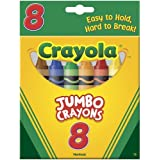 Crayola 8-Pack Crayons - Jumbo (So Big) Size Size, Pack Of 2