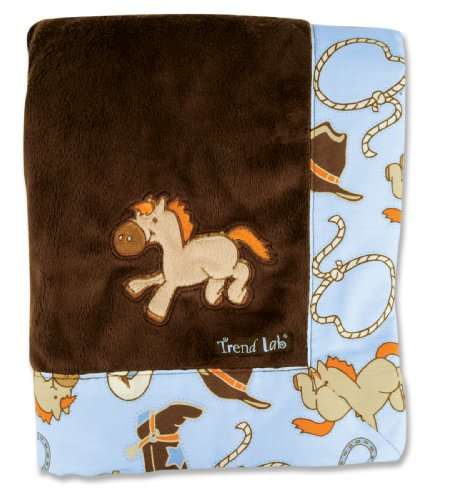 Trend Lab Framed Receiving Blanket, Cowboy Baby, Baby & Kids Zone