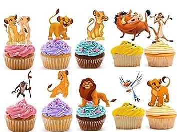 25 le Roi Lion Tasse comestible gâteau décorations pour