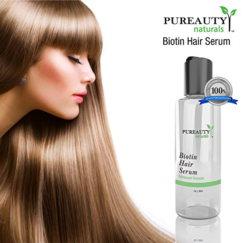 Biotin Hair Growth Serum by Pureauty Naturals – Advanced Topical Formula to Help Grow Healthy, Strong Hair – Suitable For Men & Women Of All Hair Types – Hair Loss Support by Pureauty Naturals (Image #4)