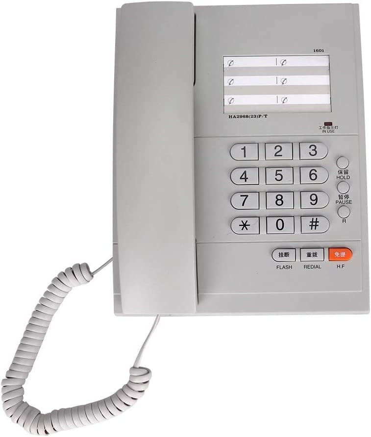 Serounder Corded Telephone, Desktop Fixed Landline Telephone Support Hands-Free Call, Hang Up Transfer, Redial and Pause Function for Office/Home