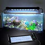Multi-color Aquarium Hood Lighting Remote Control Extendable Dimmable LED Light for Fish Tank (16 Colors, 4 Modes)