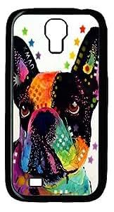 french bulldog 03 Polycarbonate Hard Case Cover for Samsung Galaxy S4/Samsung Galaxy I9500 Black
