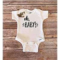 Pregnancy Announcement Shirt, Pregnany Reveal to Husband,Oh Baby Pregnancy Announcement Onesie®, Pregnancy Reveal to Parents, Pregnany Reveal to Grandparents, Oh Baby Onesie