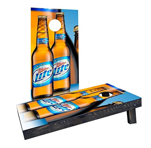 (Custom Cornhole Boards CCB1033-C Miller Light Cornhole Boards)