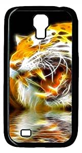Samsung Galaxy S4 I9500 Black Hard Case - Hand Painted Tiger 3D Galaxy S4 Cases