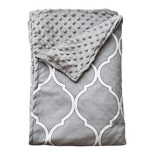 Cheap Kip & Nod Premium Removable Weighted Blanket Cover - Ultra-Soft Minky - 60 x 80 Queen Size for 15 & 18 lb Blankets - Grey and White - 59 Inch Zipper Closure and 8 Ties (Duvet Cover ONLY) Black Friday & Cyber Monday 2019