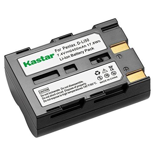 Kastar Battery (1X) for Pentax D-Li50 Konica Minolta NP-400 Samsung SLB-1647 Sigma BP-21 and Pentax K10 K10D K20 K20D Minolta A-5 A-7 Dimage A1 A2 Dynax 5D 7D Maxxum 5D 7D Samsung GX-10/20 Sigma SD1 ()