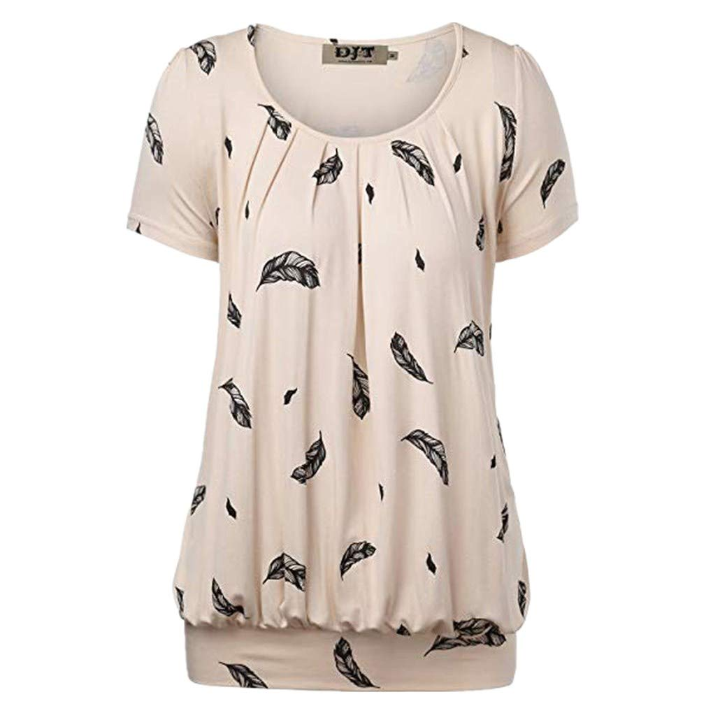 Camisetas para Mujer,BBestseller Cuello Redondo Casual Imprimiendo Camisa Manga Corta Blusas para Mujer Verano 2019 T-Shirt Tops