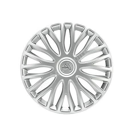 Tapacubos 14 pulgadas plata Milano - Juego Tapacubos coche: Amazon.es: Coche y moto