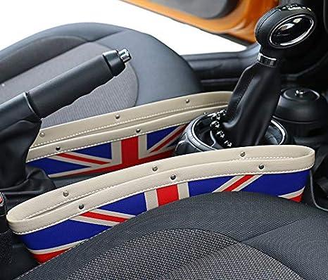 Sunshine Fly 2 Stücke Autositz Gap Anti Leck Tasche Aufbewahrungsbox Für Cooper Countryman Clubman R55 R56 R57 R58 R59 R60 R61 Auto Zubehör Beige Auto