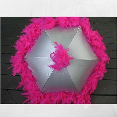 Amazon Com Second Line Umbrella Hot Pink On Silver New Orleans