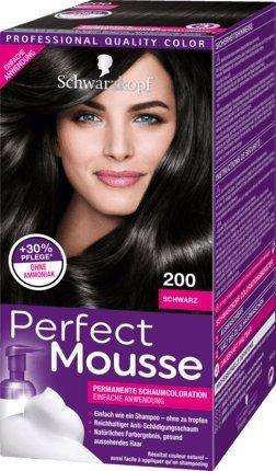 Schwarzkopf Perfect Mousse Permanent Hair Color 200 Black -