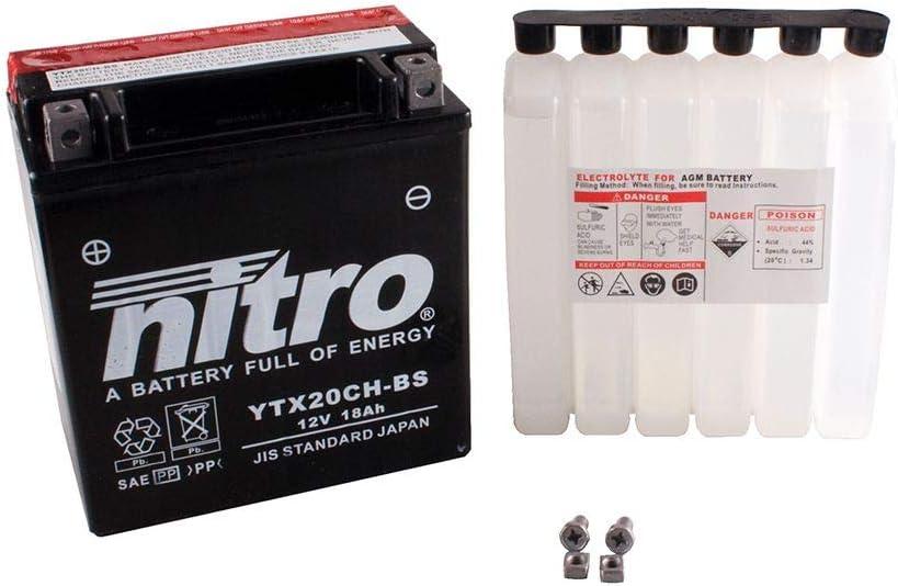 Batterie 12V 18AH YTX20CH-BS Wartungsfrei Nitro VN 1600 A Classic VNT60A 03-07