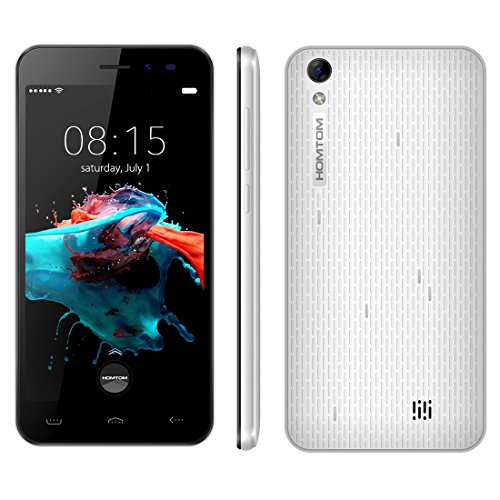 HOMTOM HT16 5.0 Inch Android 6.0 Smartphone, MTK6580 Quad Core 1.3 GHz, 1GB RAM + 8GB ROM GSM & WCDMA (White)