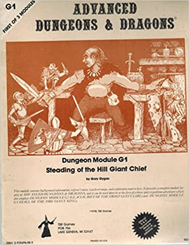 Dungeons and Dragons Advanced Dungeon Module 1 (Steading of the Hill Giant  Chief, First Of 3 Modules): E. Gary Gygax: 9780935696080: Amazon.com: Books