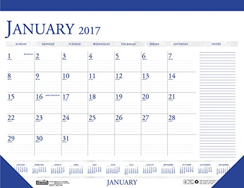 """House of Doolittle 2017 Monthly Desk Pad Calendar, Classic with Notes Section, 18.5 x 13"""" (HOD1646-17)"""