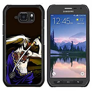 TECHCASE---Cubierta de la caja de protección para la piel dura ** Samsung Galaxy S6 Active G890A ** --Japonés tatuado Espada Guerrero