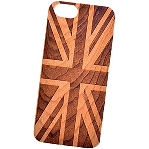 British Flag Engraved Cherry Wood Cover for iPhone and Samsung phones Wood - Samsung Galaxy s7 Edge Sales