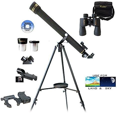 Tres Piezas Galileo telescopio, Prismáticos y Smartphone Adaptador ...