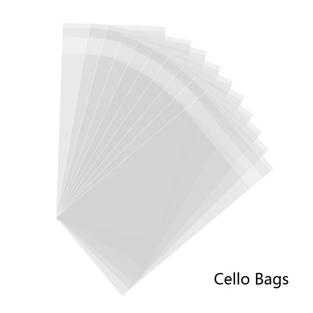 4\'\'x7\'\', 200PCs Clear Cello Bags Resealable Adhesive Treat Bags OPP ...