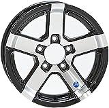 13x5 Series 07 Black Inlay Aluminum Trailer Wheel 5x4.5