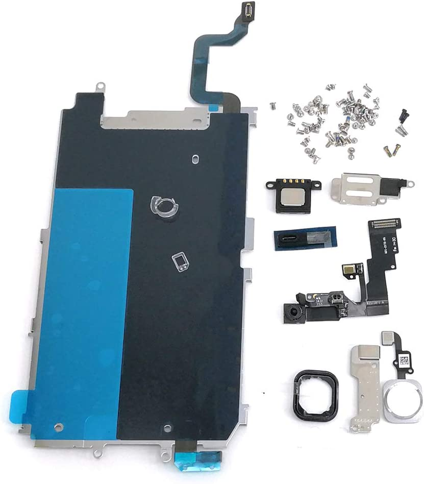 Screen LCD Metal Bracket Front Camera Flex Cable Small Parts Replacement for iPhone 6 (Silver)