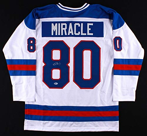 (Al Michaels Autographed Signed Memorabilia 1980 Team Usa Hockey Jersey/Do You Believe In Miracles Yes - Certified Authentic)