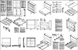 King Vertical Murphy Wall Bed Woodworking Plans
