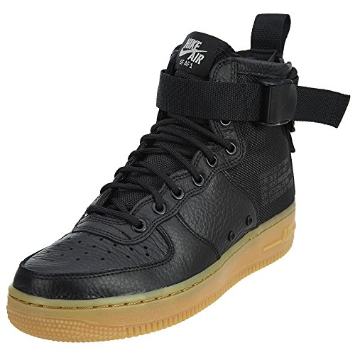 Light Brown black Pour Chaussures Force Black Automatique 375579 180 Nike Mid Baskets Homme gum TO7nF