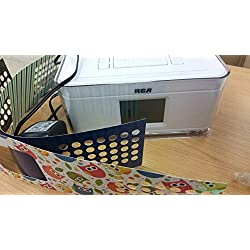 RCA Dual Alarm Clock Radio with Multicolor Fashion Wraps