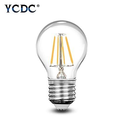 YCDC - Bombilla LED de filamento, casquillo, E14,regulable, 4