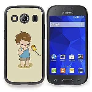 Stuss Case / Funda Carcasa protectora - Cabrito que juega lindo Niño Bebé Madre - Samsung Galaxy Ace Style LTE/ G357