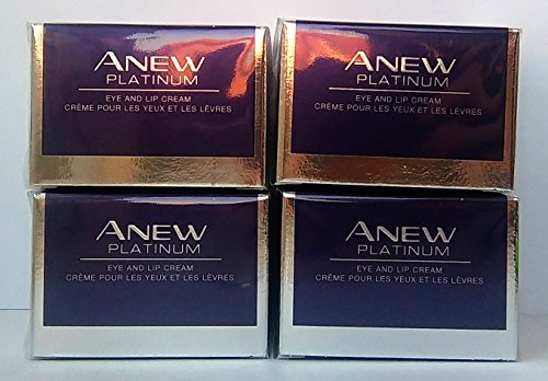 4 x AVON Anew Platinum Eye and Lip Cream 15ml - 0.5oz SET ! -