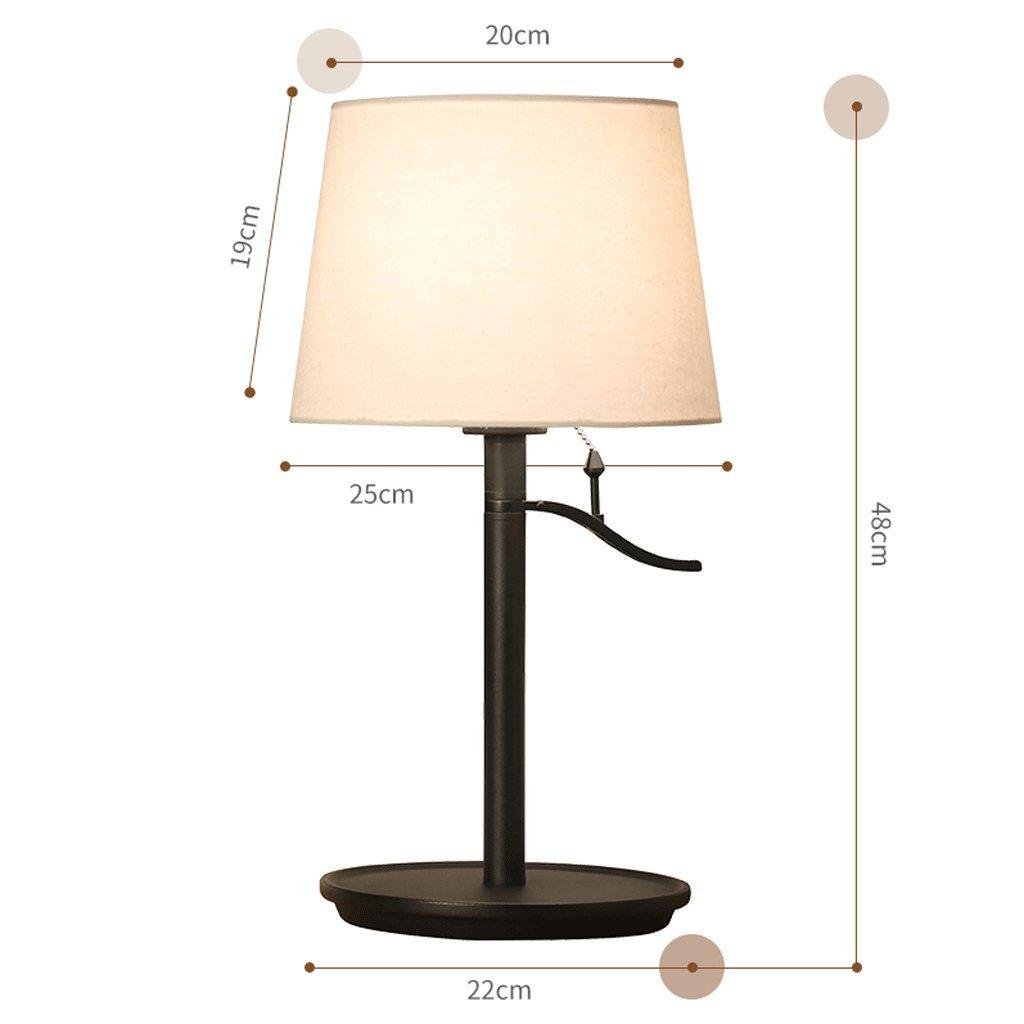 HY Tischlampe Schlafzimmer Nachttischlampe Arbeitszimmer Studiertisch Ehezimmer Wohnzimmer Tischlampe HYSF (Farbe   Frosted schwarz)