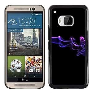 PC/Aluminum Funda Carcasa protectora para HTC One M9 Abstract smoke / JUSTGO PHONE PROTECTOR