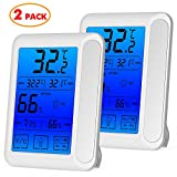 2 Pack Senbowe™ Digital Hygrometer Indoor Room Thermometer...