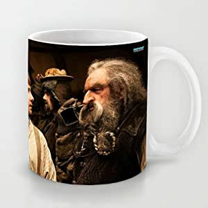 Best Gift Choice - White 11 oz Famous Movie White Ceramic Mugs Classical and Art Design with The Hobbit An Unexpected Journey Coffee Mugs/Tea Mugs/Drink Cups - Dishwasher and Microwave Safe