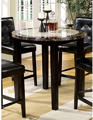 Furniture of America Kesler Faux Marble Counter Height Table