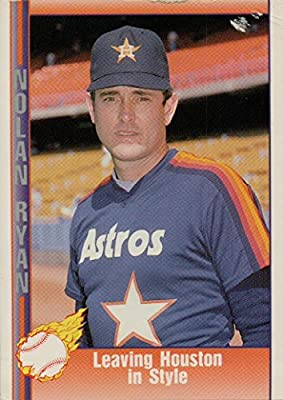 Nolan Ryan 1991 Pacific Leaving Houston In Style Baseball