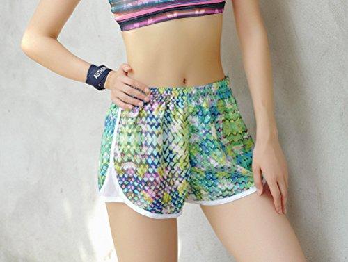 Giovane Rapida Elegante HaiDean Traspirante Jogging Casuali Larghi Donna Sportiva Hippie Shorts Corti Asciugatura Verde Estivi Pantaloncini Donne Pantaloni Eqqgzwt