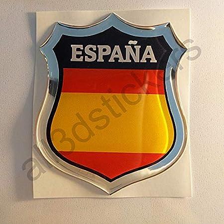 All3dstickers Pegatina España sin Escudo Relieve 3D Escudo Bandera ...