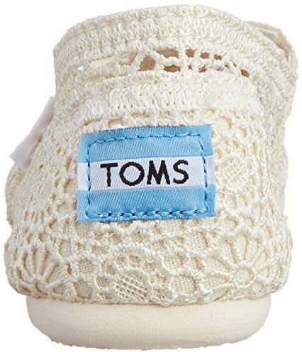 Toms Classic Natural Donna Crochet Espadrillas Scarpe Slipons