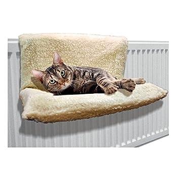 Cama de radiador para mascota, de Invero®, de forro polar: Amazon.es: Productos para mascotas