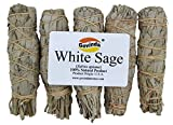 Govinda Pack of 5 Mini White Sage Smudge Stick, 4 Inch Long